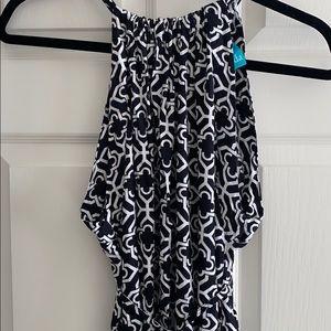Escapada Black and White Maxi Dress